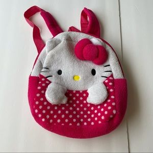 Hello kitty plush pink mini backpack